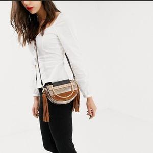 River Island fringe crossbody mini bag purse
